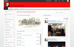 screenshot of a staff site being used by Old Town Elementary School inside of Haiku Learning.