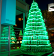 The Ritz-Carlton, Charlotte Unveils Holiday Extravaganza Including Three Giant Trees Made of Macarons and One Mega-Tree Built with 789 Recycled Green Plastic Bottles