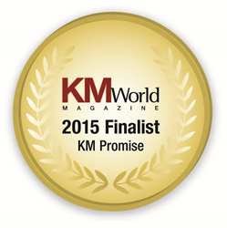 KM Promise Award Finalist 2015