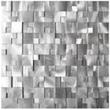 3D Raised Cobblestone Pattern Aluminum Mosaic Tile - Eden Mosaic Tile - EMT_AL10-SIL-CB