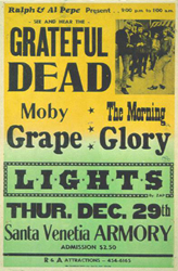 1966 Grateful Dead Santa Venetia Armory Boxing Style Concert Poster