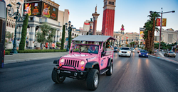 Explore Las Vegas in an open-air Jeep Wrangler
