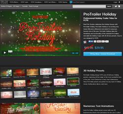 Pixel Film Studios ProTrailer Holiday Plugin.