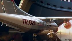 TRJet's TRJ328 aircraft rendering in hangar