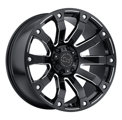 Black Rhino Wheels- Selkirk wheels in Gloss Black with Milled Spokes