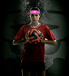 Soccer Player wearing 2ND SKULL Band