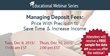 BSG Financial Group Strategic Pricing Webinar