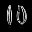 Diamond 18k White Gold Hoop Earrings (#7055)