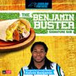 """Harris Teeter Unveils Carolina Panthers' Kelvin Benjamin's """"The Benjamin Buster"""" Signature Sub Sandwich"""