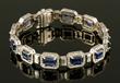 18K Sapphire and Diamond Bracelet