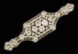 Vintage Platinum and Diamond Brooch