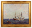 Frank Vining Smith, Three Masted Ship, Oil on Canvas