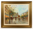 Antoine Blanchard, Paris Street Scene, Oil on Canvas
