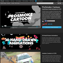 ProSmoke Cartoon Plugin was released for Final Cut Pro X by Pixel Film...