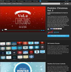 Pixel Film Studios ProIntro Christmas Volume 2 Plugin.