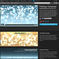 Pixel Film Studios ProDrop Christmas Plugin.