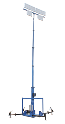 Skid Mount Five Stage Electric Mast Equipped with Six 500 Watt Light Heads