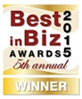 Best in Biz Awards 2015 gold winner logo
