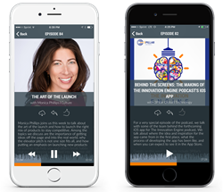 The Innovation Engine podcast's iPhone app