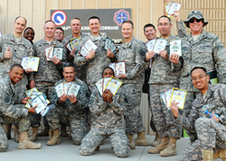 A military unit receiving SeaBear Wild Salmon products.