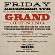House of 'Que to Host Grand Opening Celebration Friday, December 4, 2015