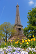 Springtime in Paris is an exceptionally inspiring time with the flowers blooming and the warm climate making it great for walking to the area's popular spots such as the Eiffel Tower.