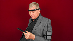 Lee Gerdes, Founder & CEO of Brain State Technologies Wearing the Braintellect 2 Wearable Headband Working Prototype