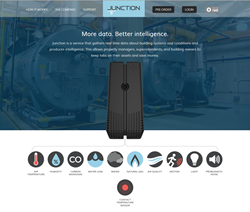 Junction is a small device designed to send you intelligence about your building that will help you manage more efficiently