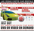 Get 10% Discount on Las vegas Exotic Car Rentals when buying All American Bikini Car Wash DVD