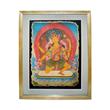 Lot 195. Buddhist Deity Ushnishavijaya Mural.