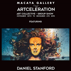 "Daniel Stanford, one of Canada's rising contemporary artists, revealed his latest work at the highly-anticipated ""Artceleration"" special presentation at the Macaya Gallery."