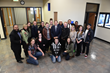 Utah Gov. Gary Herbert (center) meets with students at Salt Lake Community College.