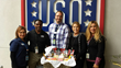 Justin Butterfield, Hudson Group's General Manager at San Diego International Airport, donation to airport's USO.