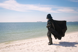Vader on the beach