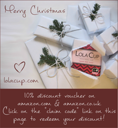 LolaCup Menstrual Cup Christmas Discount Gift Voucher