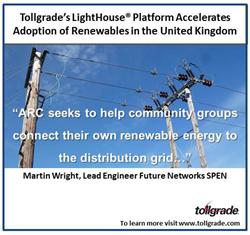 Tollgrade's LightHouse Platform Accelerates Adoption of Renewables in the United Kingdom