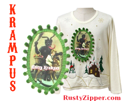 Ugly Krampus Christmas Sweater