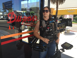 "Jessica Lopez on the set of Jerry Seinfeld's ""Comedians In Cars Getting Coffee"""