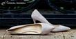 Grey Suede Comfort Heels