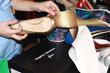 Angelina Voloshinasnakeskin heels