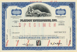 Playboy Stock Certificate