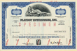 Scripophily.com is Now Offering an Original Stock Certificate from Playboy Enterprises, Inc. Showing an Image of a Nude Playmate, and has Hugh Hefner's Printed Signature