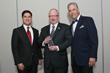 Florida Insurance Commisioner McCarty flanked by LAAIA President Elect Sebastian Rejon and LAAIA President Jorge Peña