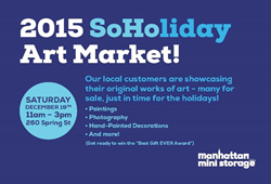 soho, holiday, art fair, storage, local artists, artists nyc, shop local, holiday gifts