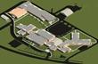 Axon of Fort Washakie K-12 school campus design by Jackson Hole architects Ward + Blake with Fanning/Howey Associates. (Courtesy of Ward + Blake Architects)