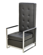 Sabrina Black Arm Chair