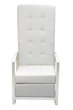 Sabrina White Arm Chair