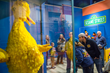 Big Bird and the Sesame Street exhibit inside the Jim Henson Collection