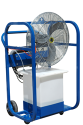 "Class 1 Division 1 Portable Air Chiller on Cart with 6"" Wheels"