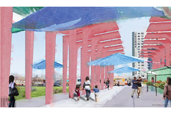 "The City of Newark, the Urban League of Essex County and PSE&G announced today the launch of the region's first-ever ""Art Wall"" project designed to beautify the protective façade of an electrical switching station."